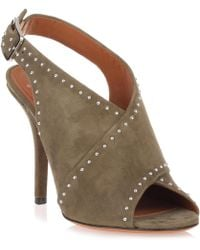 Givenchy - Khaki Suede Cross-over Sandal - Lyst