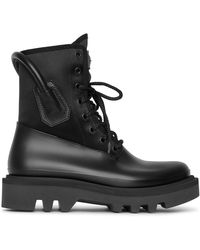 Givenchy Combat Rubber Neoprene And Satin Boots - Black