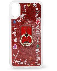 Christian Louboutin Loubiring Iphone Case Xs - Red