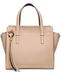 Ferragamo Amy S Beige Leather Tote Bag - Natural