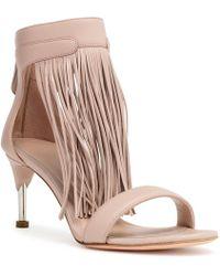Alexander McQueen - Light Beige Fringes Sandals - Lyst