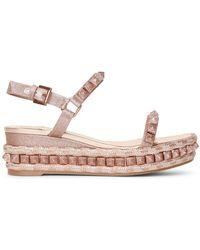 Christian Louboutin Pira Ryad 60 Glitter Flatform Sandals - Multicolour