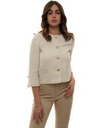 Seventy Chanel Style Jacket Natural Cotton - Multicolour