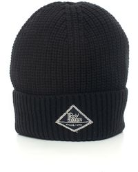 Roy Rogers Hat-ribbed Beanie Black Polyester