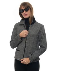 Pennyblack Short Jacket Grigio/nero Wool - Gray