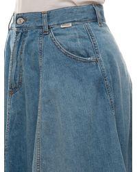 Roy Rogers Circle Skirt Medium Denim Cotton - Blue
