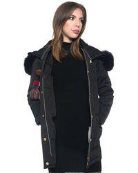 Peuterey Otam Am Fox Coat - Black