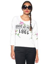 Guess   Over-size Sweatshirt   Lyst
