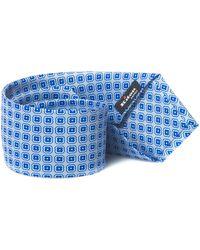 Kiton Tie Azzurro/blu Silk - Blue