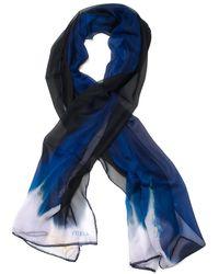 Furla Foulard in seta Blu Seta