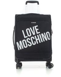 Love Moschino Trolley 4 ruote Nero Poliestere