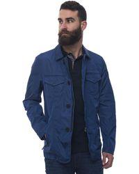 Peuterey Hollywood Nb Light-weight Harrington Jacket Medium Blue Polyamide