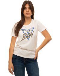 Guess T-shirt girocollo Bianco Cotone