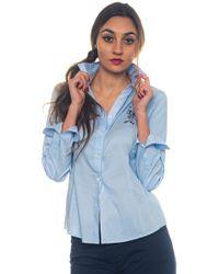 U.S. POLO ASSN. - Donelle Shirt Ls Cotton Blouse - Lyst