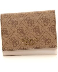 Guess Wallet Small Size Brown Polyurethane