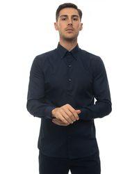 Angelo Nardelli Camicia classica da uomo Blu Cotone