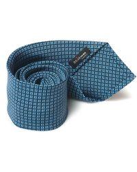 Kiton Cravatta Blu/azzurro Seta
