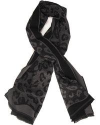 Pennyblack Ottavino Scarf Grigio-nero Polyester - Black