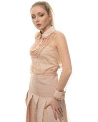 RED Valentino Lace Blouse Nude Polyamide - Natural
