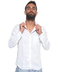 Vincenzo De Lauziers Long-sleeved Linen Shirt - White