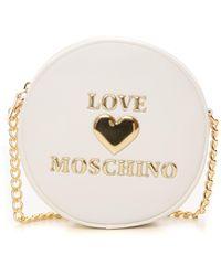 Love Moschino Pochette a spalla Bianco Poliuretano