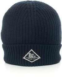 Roy Rogers Hat-ribbed Beanie Blue Polyester