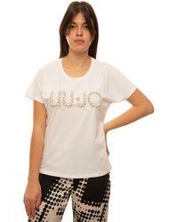 Liu Jo T-shirt Bianco Cotone