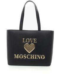 Love Moschino - Borsa a secchiello Nero Pvc - Lyst