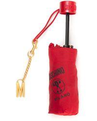 Moschino Folding Umbrella Red Polyester