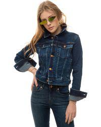 Guess Giubbino in jeans Denim scuro Cotone - Blu
