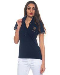 U.S. POLO ASSN. - Nadine Polo Ss Short-sleeved Polo Shirt In Piquè - Lyst