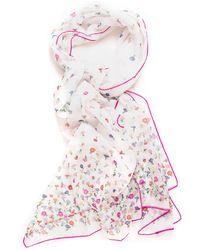 Furla Microfiori Foulard In Silk Multicolour Silk