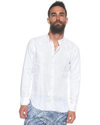 Vincenzo De Lauziers Shirt With Guru Collar - White