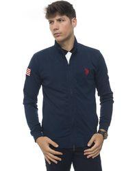 U.S. POLO ASSN. Sweatshirt Blue Cotton