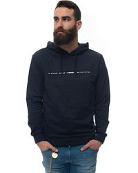 Emporio Armani Sweatshirt With Hood Blue Cotton