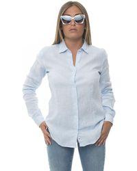 Vincenzo De Lauziers Amalfi Long-sleeved Linen Shirt Azure Linen - Blue
