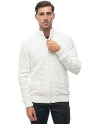 Kiton Cardigan in cashmere Bianco Cachemire