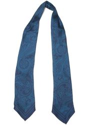 Ermenegildo Zegna Ascot Scarf Blue Silk