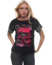 Guess T-shirt Nero Cotone