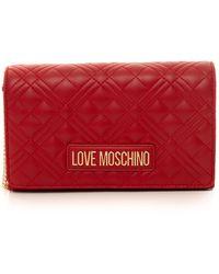 Love Moschino Pochette trapuntata Rosso Poliuretano