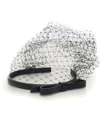 RED Valentino Headband With Veil Black