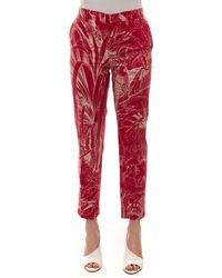 RED Valentino Classical Trousers Pink Cotton