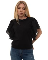 Roy Rogers Round-necked T-shirt Black Cotton