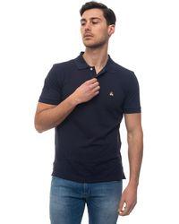 Brooks Brothers Short Sleeve Polo Shirt Blue Cotton