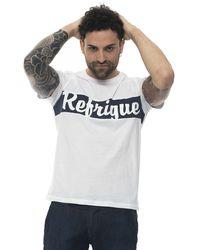 Refrigue T-shirt Bianco/blu Cotone