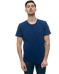 Peuterey Androsfim Round-necked T-shirt Cornflower Blue Cotton