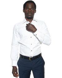 Carrel Long-sleeved Cotton Shirt - White