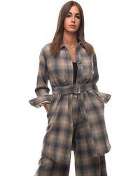 Seventy Dust Coat Grigio/beige Wool - Multicolour
