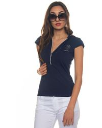 U.S. POLO ASSN. - Angelina Polo Ss Polo Shirt In Jersey - Lyst