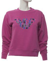 Emporio Armani Sweatshirt Fuchsia Cotton - Purple